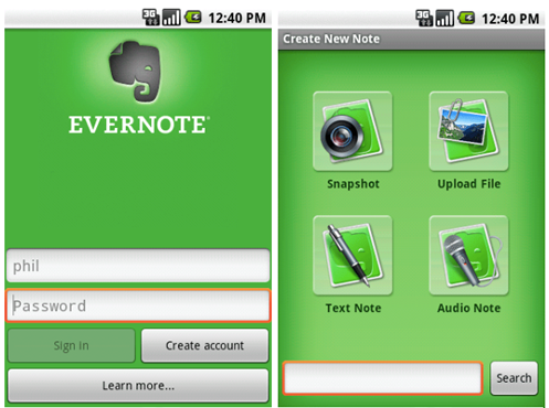 Download Evernote App